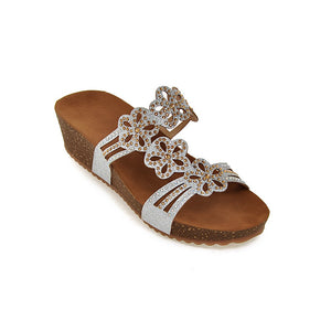Women Sandals Rhinestone Slipper Platform Shoes