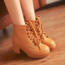 Load image into Gallery viewer, Women Ankle Boots Lace Up High Heels Platform Shoes Woman 2016 3582