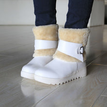 Load image into Gallery viewer, Fur Snow Boots Winter Buckle Wedges Shoes Woman