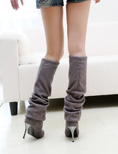 Load image into Gallery viewer, Rabbit Fur Winter Boots Wedges Platform Women Shoes
