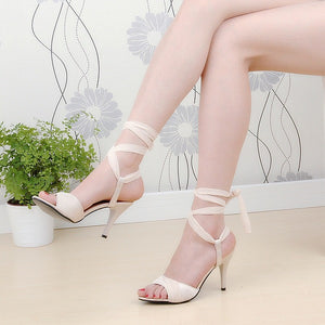 Cross Strap High Heels Sandals Stiletto Heel 9623