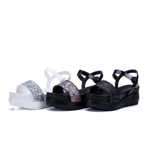 Sequin Wedges Sandals Women Platform Shoes Woman