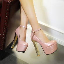 Load image into Gallery viewer, Ankle Straps Women Platform Pumps Tassel High Heels Shoes Woman