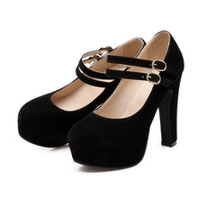 Load image into Gallery viewer, Round Toe Mary Janes Platform Sandals High Heels 2610