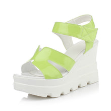 Load image into Gallery viewer, Women Sandals Candy Color Wedges Platform High-heeled Shoes