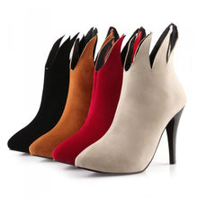 Load image into Gallery viewer, Pointed Toe Ankle Boots High Heels Stiletto Heel Shoes Woman 3329