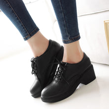 Load image into Gallery viewer, Lace Up Ankle Boots Round Toe Women Casual Shoes