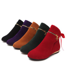 Load image into Gallery viewer, Ribbons Bow Ankle Boots Flats Heels Women Shoes 9168