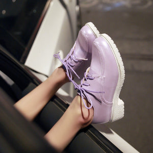 Lace Up Pumps Platform High Heels Fashion Women Shoes 3837