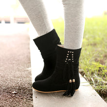 Load image into Gallery viewer, Fashion Women Ankle Boots for Autumn and Winter New Arrival Tassel 9459
