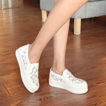 Load image into Gallery viewer, Flower Wedges Mesh Platform High Heels Women Shoes 4324