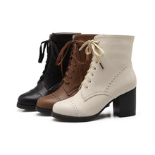 Load image into Gallery viewer, Lace Up Ankle Boots High Heels Women Shoes Fall|Winter 6780