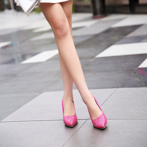 Women High Heels Pointed Toe Dress Shoes Spike Pumps 5273