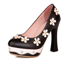 Load image into Gallery viewer, Flower Women Pumps High Heels Platform Shoes 9023