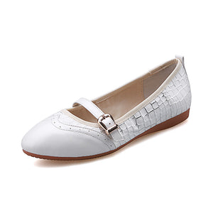 Casual Buckle Women Flats Ballet Shoes