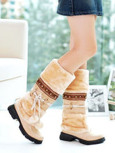 Load image into Gallery viewer, Warm Fur Ball Studded Snow Boots Women Shoes 5749