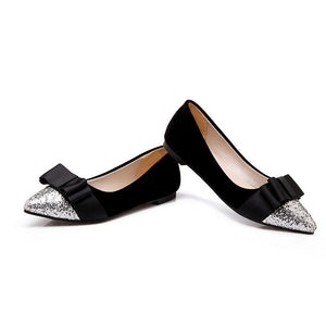 Women Flats Pointed Toe Bow Shoes  4333