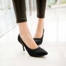 Load image into Gallery viewer, Mesh Pumps Platform High Heels Women Spike Shoes 2107