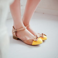 Load image into Gallery viewer, Bow-Ankle-Straps-Sandals-Women-Pumps-Shoes 4563