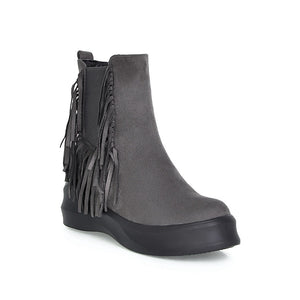 Tassel Wedges Boots Women Platform Shoes Fall|Winter 7956