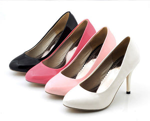 Women High Heels Spike Shoes Candy Colors Pumps 2828