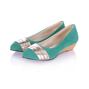 Metal Women Wedges Platform Shoes 9458