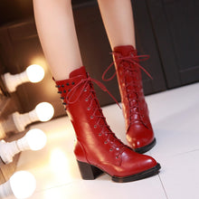 Load image into Gallery viewer, Pointed Toe Studded Boots High Heels Women Shoes Fall|Winter 1091