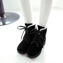 Load image into Gallery viewer, Lace Up Women Snow Boots Winter Artificial Suede Shoes Woman