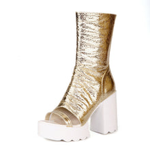 Load image into Gallery viewer, Zipper Gladiator Boots High Heels Platform Boots Summer Shoes Woman