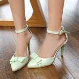Summer Stiletto Sandals Pumps Bow High-heeled Shoes Woman