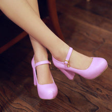 Load image into Gallery viewer, Ankle Straps Chunky Heel Pumps Platform High Heels Fashion Women Shoes 3348