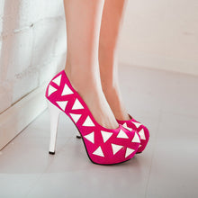 Load image into Gallery viewer, Women Platform Pumps High Heels Party Spike Shoes Woman 3595