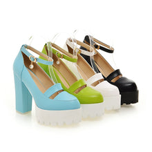 Load image into Gallery viewer, Ankle Straps Women High Heel Shoes Candy Color New Arrive Pumps 2016