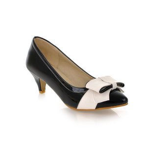 Bow Women Pumps Dress Shoes High Heels  8336