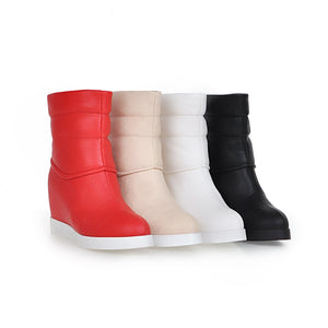 Round Toe Wedges Boots Women Shoes Fall|Winter 7765
