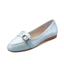 Load image into Gallery viewer, Casual Stone Pattern Women Flats Shoes with Buckle