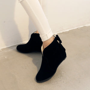 Back Bow Ankle Boots Wedges Women Shoes Fall|Winter 2367
