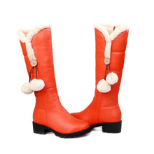 Load image into Gallery viewer, Women Snow Boots Ball Winter Knee High Boots Shoes Woman 2016 3520