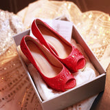 Peep Toes Women Platform Pumps High Heels Crystal Shoes for Wedding Woman
