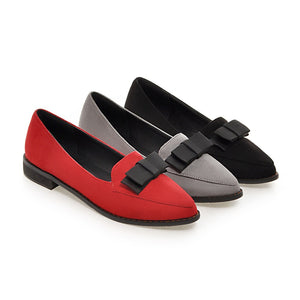 Pointed Toe Women Flat Shoes with Bow New 2016