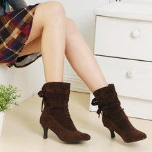 Load image into Gallery viewer, Bow High Heels Ankle Boots Spike Heel 3080
