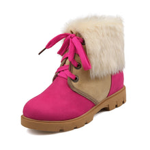 Load image into Gallery viewer, Lace Up Snow Boots with Lamb Wool Ankle Boots New 2016 5944