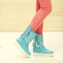 Load image into Gallery viewer, Sequined Women Snow Boots Winter Knot Platform Shoes Woman 2016 3476