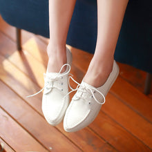 Load image into Gallery viewer, Lace Up Flats Fashion Women Shoes 7104