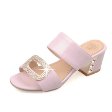 Load image into Gallery viewer, Women Slipper Pumps Rhinestone High-heeled Shoes