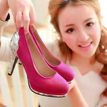 Load image into Gallery viewer, Sequined Women Platform Pumps High Heels Shoes Woman