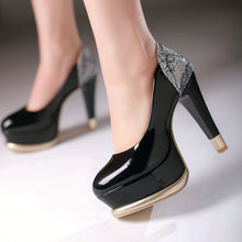 Load image into Gallery viewer, Women Pumps Platform High Heels Dress Shoes 8843
