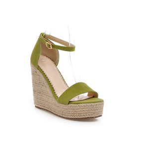 Sandals Ankle Straps Wedges Platform Women Shoes