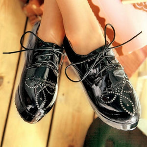 Tassel Platform Shoes Lace Up Harajuku Women Wedges