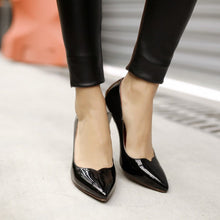 Load image into Gallery viewer, Pointed Toe Women Pumps High Heels Patent Leather Spike Shoes Woman